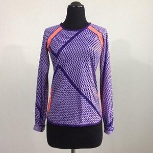 Nike Dri Fit Mesh Long Sleeve Breathable Top